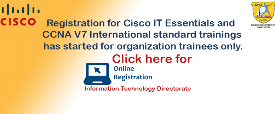 Registration for Cisco IT Essentials and  CCNA V7 trainings  has started.