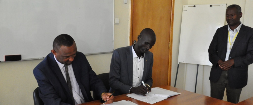 ECSU and Gambela City Administration Sign Cooperation Agreement