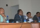 Professor Fekadu Beyene Discusses with Teaching Staff